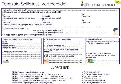 voorbereiden sollicitatie Voorbereiden Sollicitatiegesprek (+ Template & 20 Tips)